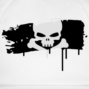pirate flag painted with a brush stroke Underwear - Baseball Cap