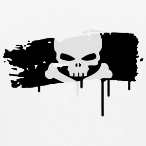 pirate flag painted with a brush stroke Underwear - Men's Premium T-Shirt