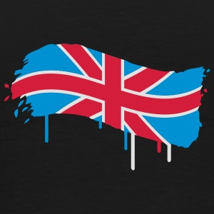 English flag painted with a brush stroke  Underwear - Men's Premium T-Shirt