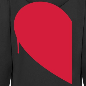 Half Heart Woman T-Shirts - Men's Premium Hooded Jacket