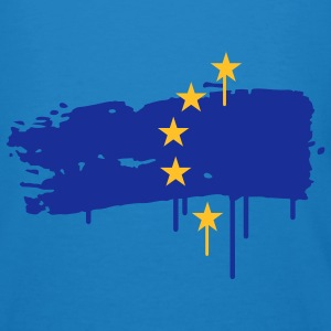 European flag painted with a brush stroke Bags  - Men's Organic T-shirt