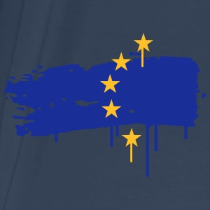 European flag painted with a brush stroke Bags  - Men's Premium T-Shirt