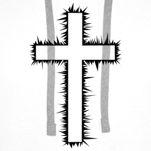 Christian Cross T-Shirts - Men's Premium Hoodie