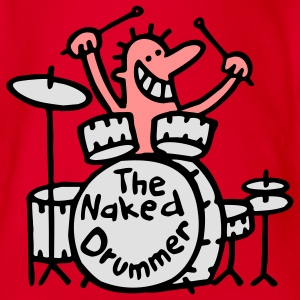 the naked drummer 3farben T-Shirts - Baby Bio-Kurzarm-Body