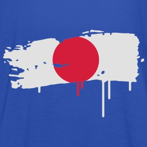 Japanese flag painted with a brush stroke Kids' Shirts - Women's Tank Top by Bella