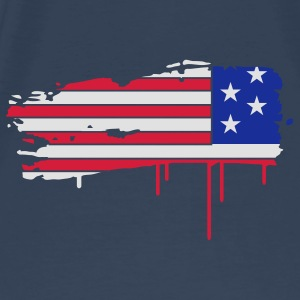 Flag of the United States painted with a brush stroke  Bags  - Men's Premium T-Shirt
