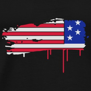 Flag of the United States painted with a brush stroke  Umbrellas - Men's Premium T-Shirt