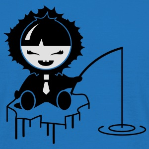 the little Eskimo fishing Umbrellas - Men's T-Shirt