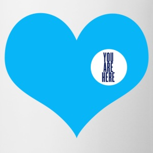 you are here - idée cadeau amour  Badges - Tasse