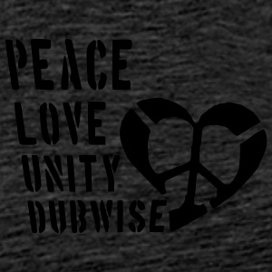 Peace, Love, Unity (front & back) - Men's Premium T-Shirt