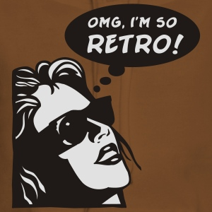 OMG I'm So retro T-Shirts - Frauen Premium Hoodie