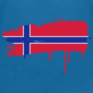 Norwegian flag painted with a brush stroke  Accessories - Women's V-Neck T-Shirt