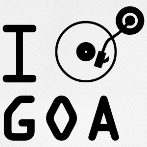 I play Goa / I love Goa / vinyl DJ T-Shirts - Baseball Cap