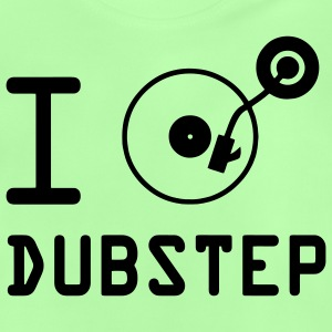 I play dubstep / I Love Dubstep / vinyl DJ Kids' Tops - Baby T-Shirt