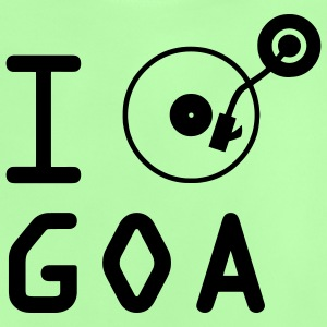 I play Goa / I love Goa / vinyl DJ Kids' Tops - Baby T-Shirt