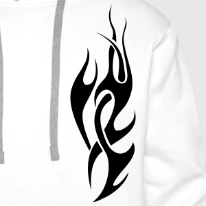 tribal flame T-Shirts - Men's Premium Hoodie
