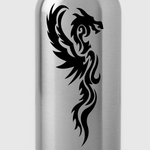 tribal dragon tattoo T-Shirts - Water Bottle