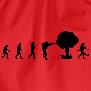 Evolution nuclear war T-Shirts - Drawstring Bag