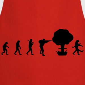 Evolution nuclear war T-Shirts - Cooking Apron