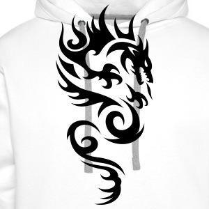 tribal dragon T-shirts - Sweat-shirt à capuche Premium pour hommes