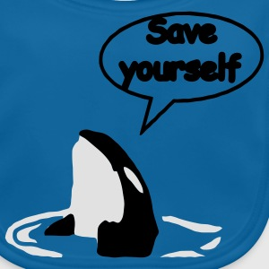 Save Yourself Rettet die Wale. Kinder T-Shirts - Baby Bio-Lätzchen