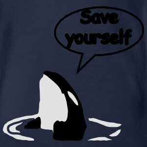 Save Yourself Rettet die Wale. Kinder Pullover - Baby Bio-Kurzarm-Body