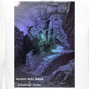 Whit Mug with the image of the Ancient Well Toweer - Men's Premium Hoodie