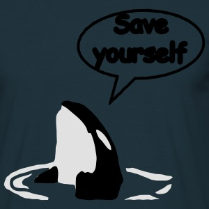 Save Yourself  sauver les baleines.  Sweatshirts - T-shirt Homme