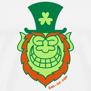 St Paddy's Day Leprechaun Grinning from Ear to Ear Mugs  - Men's Premium T-Shirt
