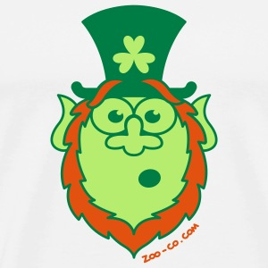 St Paddy's Day Surprised Leprechaun Hoodies & Sweatshirts - Men's Premium T-Shirt