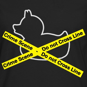 Crime Scene duck, Do not cross the line Hoodies & Sweatshirts - Men's Premium Longsleeve Shirt