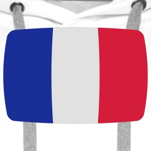 France flag France flag France République Française French  T-Shirts - Men's Premium Hoodie
