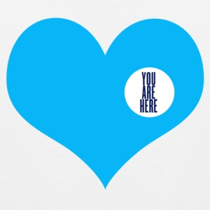 you are here - Amore e San Valentino Bottoni/Spille - Canotta premium da uomo