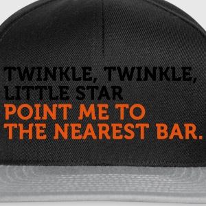 Point Me To The Nearest Bar (2c) T-Shirts - Snapback Cap