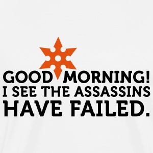 I See The Assassins Have Failed 2 (2c)  Aprons - Men's Premium T-Shirt