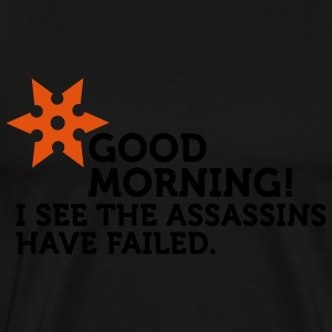 I See The Assassins Have Failed (2c)  Aprons - Men's Premium T-Shirt