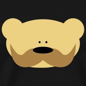 Teddy Bear Moustache Gensere - Premium T-skjorte for menn