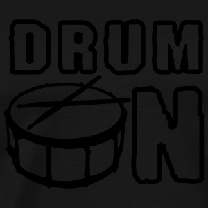 drum_on_a_1c Kookschorten - Mannen Premium T-shirt