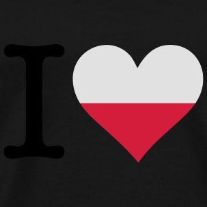I Love Poland (3c) Bags  - Men's Premium T-Shirt