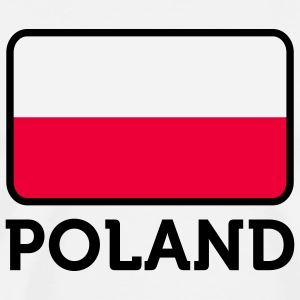 Flag Poland 2 (3c)  Aprons - Men's Premium T-Shirt