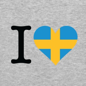 I Love Sweden (dd) Tröjor - Slim Fit T-shirt herr