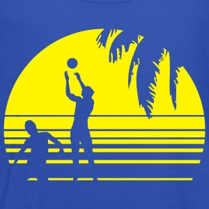 BEACH VOLLEYBALL SUNSET PALME 1C T-shirts - Dame tanktop fra Bella