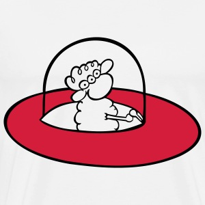 Alien Sheep Gensere - Premium T-skjorte for menn