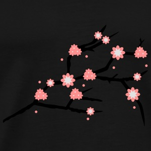 A branch with cherry blossoms  Umbrellas - Men's Premium T-Shirt