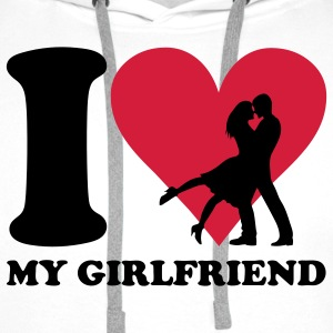 I love my Girlfriend T-Shirts - Men's Premium Hoodie