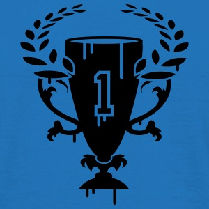 A Winner Cup with laurel wreath and Number 1 Umbrellas - Men's T-Shirt