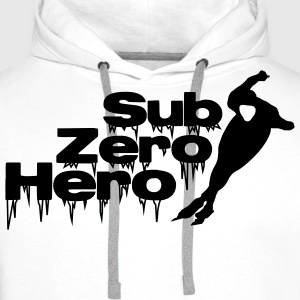 Sub Zero Hero - patineur, patinage - Sweat-shirt à capuche Premium pour hommes