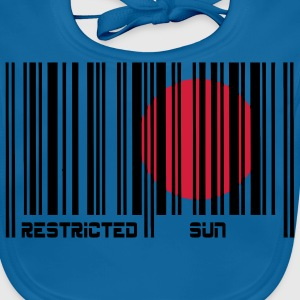 Restricted Sun, Dom Restricted, codice a barre. T-shirt bambini - Bavaglino