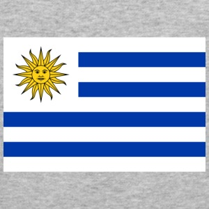 Flag Uruguay (dd) Tröjor - Slim Fit T-shirt herr