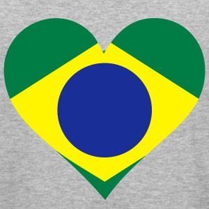 Heart Brazil (3c) Sweatshirts - Herre Slim Fit T-Shirt